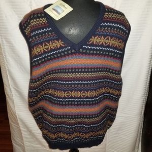 LL Bean Lambswool V-neck Sweater Vest Size XL